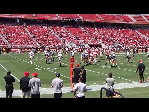 San Francisco 49ers Open Practice 8-5-2017 Levi's Stadium Compilation