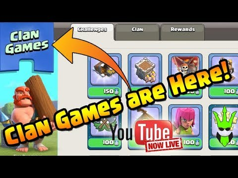 CLAN GAMES ARE HERE! | Live Task Completion! | Clash of Clans | December Update