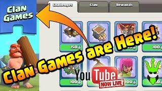 clash of clans clan games