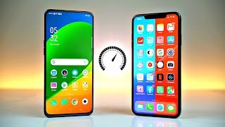 Oppo Reno 10X Zoom vs iPhone XS MAX - Speed Test