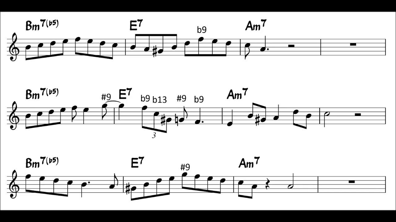 minor ii-V-I Licks - Autumn Leaves (for Tenor Sax)