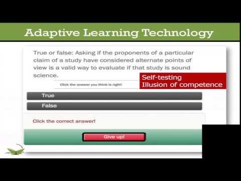 2014 Penn State TLT Symposium Session - Using Adaptive Learning Technology and Reflective Exercises