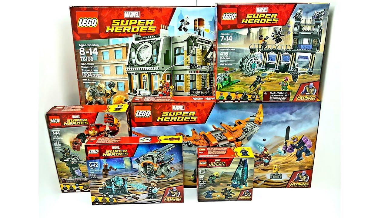 Lego Avengers Infinity War Complete Set All Playsets Youtube Avengers Infinity War Lego Marvel Infinity War