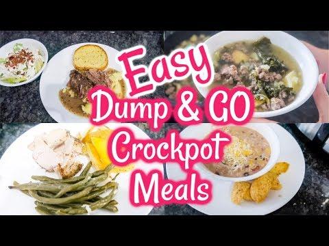 New! DUMP & GO CROCK POT RECIPES | HEALTHY CROCK POT MEALS | WHAT' FOR DINNER | HEALTHY DINNER IDEAS