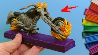 HOW TO MAKE MOTORCYCLE GHOST RIDER from CLAY