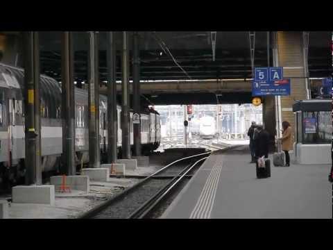 Basel SBB TGV LYRIA 9222. Zürich HB - Paris gare de Lyon.