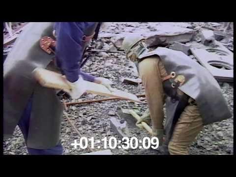 1986.09 Очистка кровель ЧАЭС. Солдаты (резервисты)