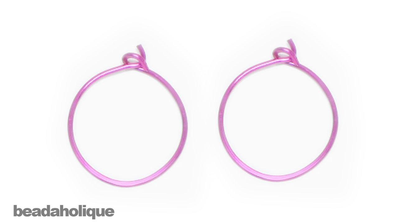 How to Make Wire Hoop Earrings - YouTube