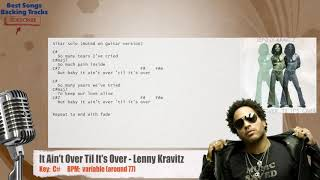 It Ain't Over Til It's Over - Lenny Kravitz Vocal Backing Track with chords and lyrics Video