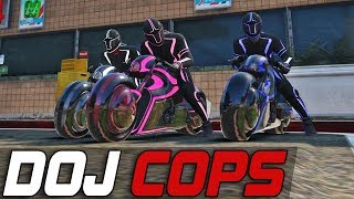 Dept. of Justice Cops #402 | Tron Bike Trio