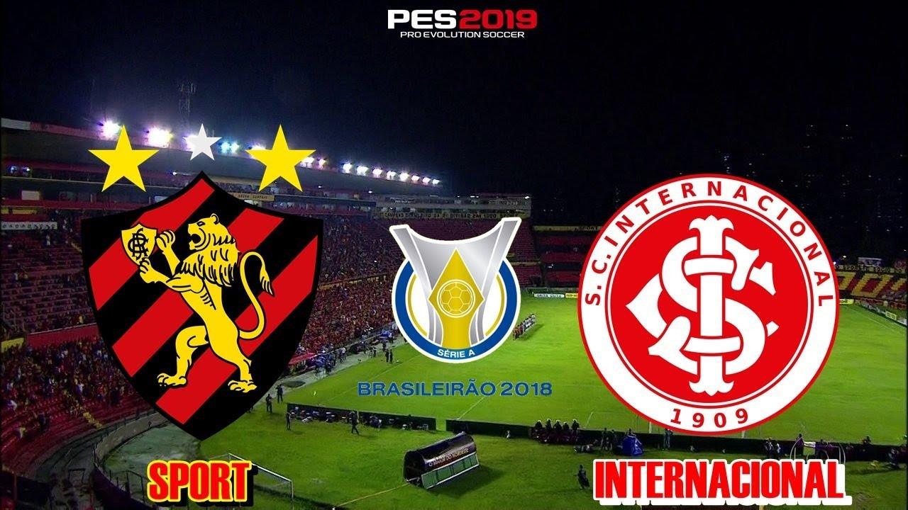 Pes 2019 Sport X Internacional Brasileirao 2018 Gameplay Ps4 Youtube