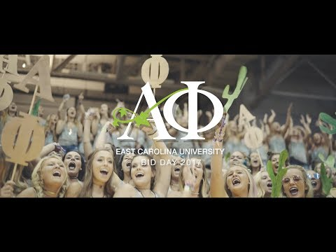 Alpha Phi East Carolina University - Bid Day 2017