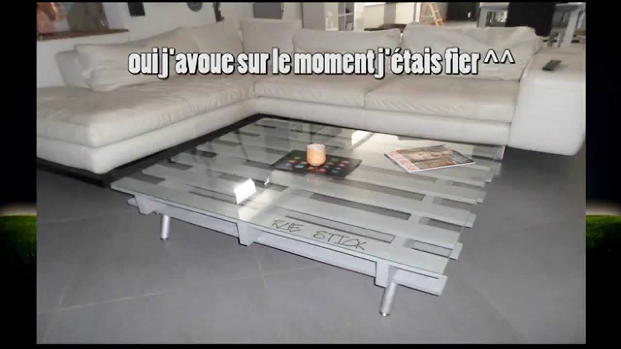 02 table basse en mode r cup youtube for Table basse opium blanche