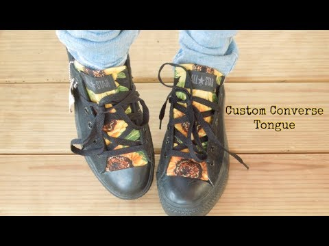 How To: Custom Converse Shoe Tongue!