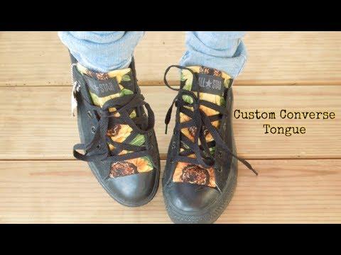 9bfa26842d8e How To  Custom Converse Shoe Tongue! - YouTube