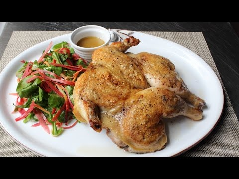 Chicken Under a Brick - How to Make Chicken Roasted Under Bricks