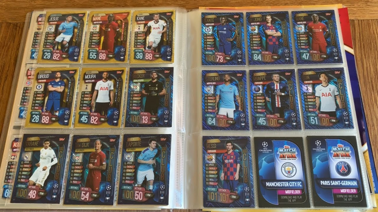 Match Attax 19//20 2019//20 Full Set of 256 Cards binder 15 Super Squad LE1G