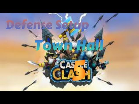 Castle Clash - Defense Strategy For Town Hall Level 5