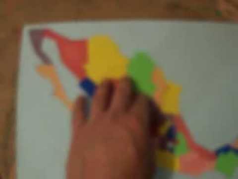 Mapa Mxico Rompecabezas de Foami  YouTube