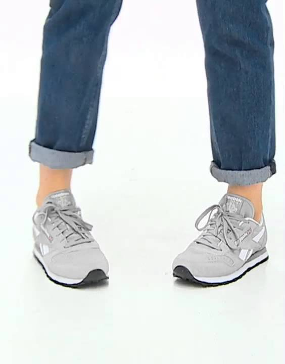 d24e4335cf8 Reebok CL Suede Grey Trainers - YouTube