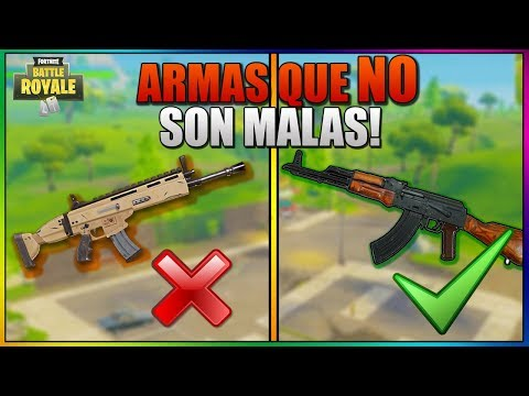 ARMAS que NO SON MALAS EN FORTNITE BATTLE ROYALE PERO QUE TODOS ODIAMOS !! - Top 5 *Guia fortnite*