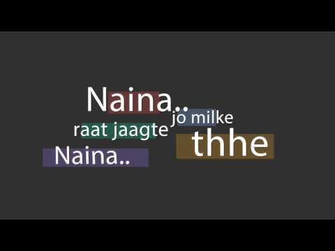 Naina Dangal Lyrical video