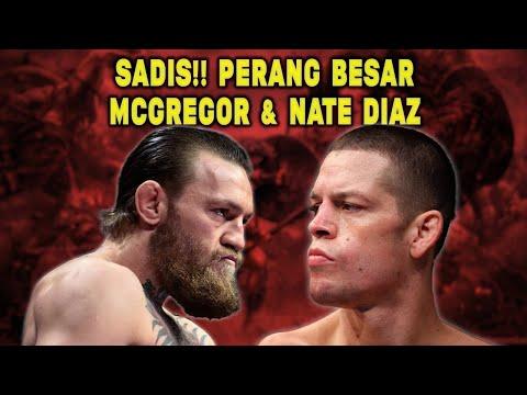 MEMANAS! Detik-Detik Nate Diaz BUNGKAM MULUT Conor McGregor !