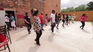 Can't Help It Line Dance Choreographed by ShaWauna Moore artist Kingdthedj Remix