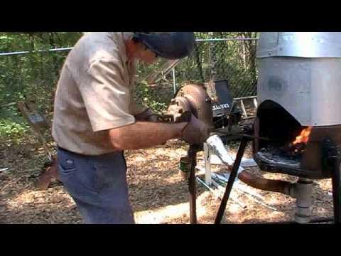 Backyard blacksmith forge Crawfordville, Fla - YouTube