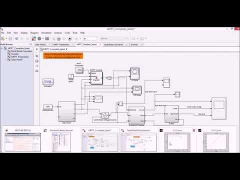 Simulation of Solar PV model in matlab simulink having MPPT and Buck Boost converter