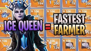 FORTNITE😍ICE QUEEN Save The World Gameplay😍FASTEST Way To FARM Materials
