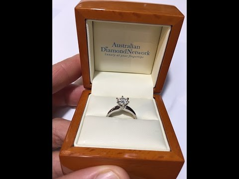 $3900 - 1.00 Carat Solitaire Diamond Engagement Ring - Australian Diamond Network