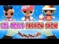 LOL Surprise Dolls Runway Fashion Show! Featuring Dollface, Yang QT, & MC Swag! | LOL Dolls Families