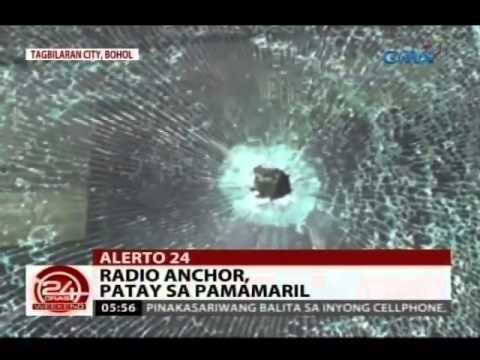 24 Oras: Radio anchor sa Bohol, patay sa pamamaril