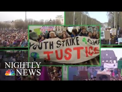 Students Across The Globe Go On Strike For Climate Change | NBC Nightly News