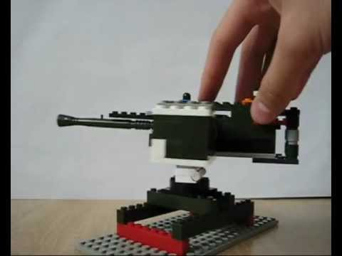 Lego mini machine gun Browning 50 cal (working)