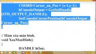 Lập trình C/C++ - Làm game trên Console - Part 3
