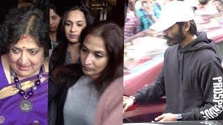 Exclusive Video: 2.0 படம் பார்த்த Dhanush, Latha Rajinikanth , Soundarya Rajinikanth
