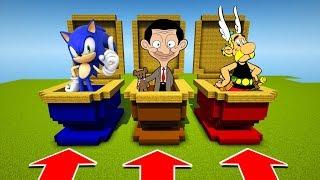 NE RENTRER PAS DANS LA MAUVAIS TOILETTE  MINECRAFT !! Sonic, Mr beans, Astérix
