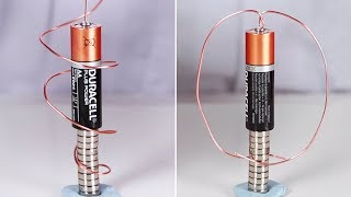 How To Make A Homopolar motor | DIY Science Experiment At Home | Science Videos By Hooplakidz Lab
