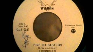 LLOYD LOVINDEER - Fire inna babylon + fire version (1977 Wildlife)