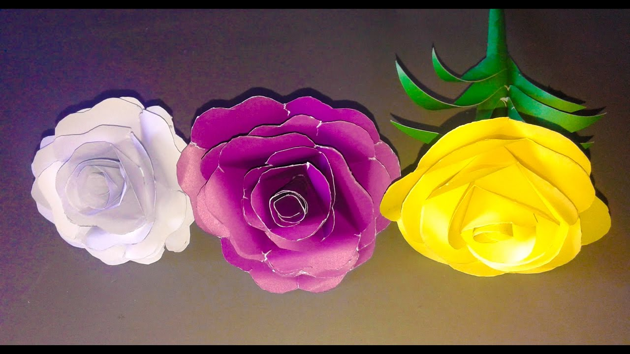 How To Make A Paper Rose Origami Paper Rose Easy Step By Step Videoorigami  Pentagon Rose