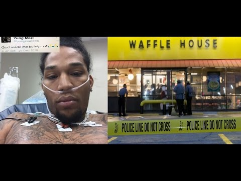 Rapper 'Yung Mazi' gets Shot 3 Times at Waffle House and Tweets out 'Good Thing ... I'm Bulletproof""