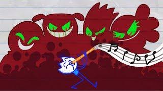 Mr. Fun's Magic Flute PROVOKES DEVIL   Funny Pencil Animation