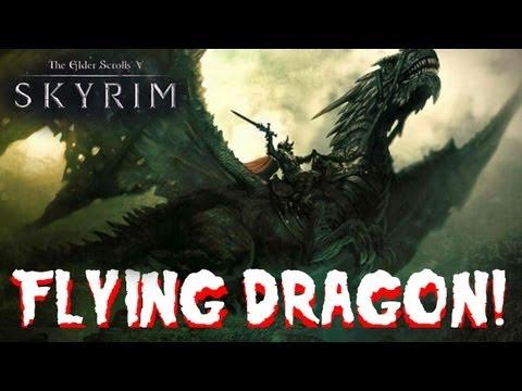 SKYRIM DRAGONBORN-Ride a FLYING  DRAGON Quest walkthrough HD
