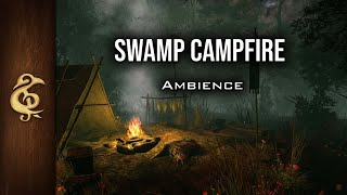 Swamp Campfire | Nature ASMR Ambience | 3 Hours