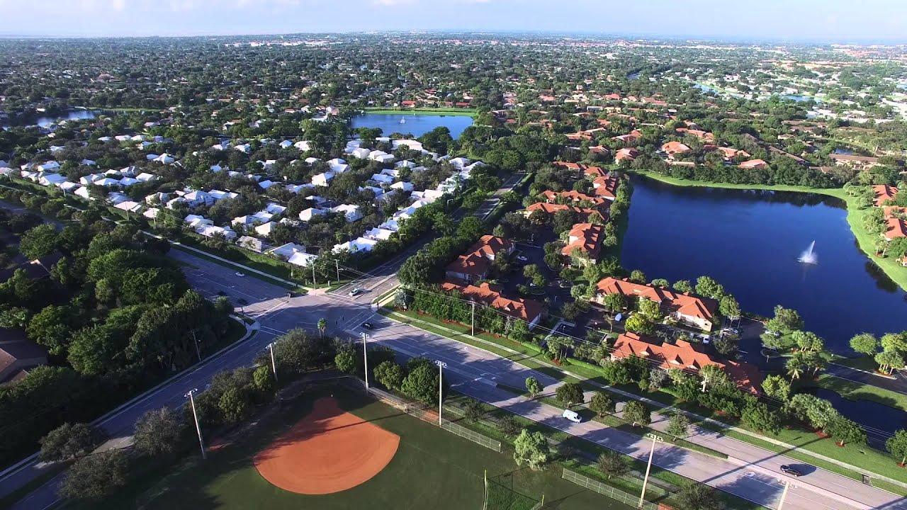 Plantation Central Park Florida 4k Drone - YouTube