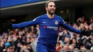 Gonzalo Higuaín Goals Chelsea vs Huddersfield 5-0 & Highlights
