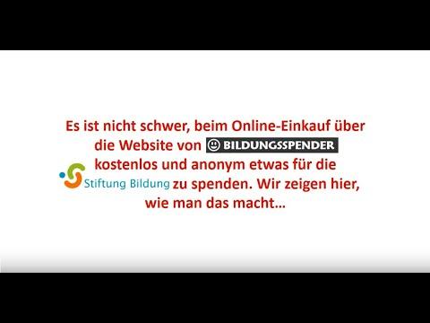 Stiftung Bildung - Kleine Spende - Anleitung Bildungsspender