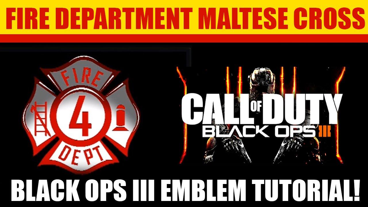 Fresh Black Ops 3 - How to make Fire Department Maltese Cross Emblem  SL37